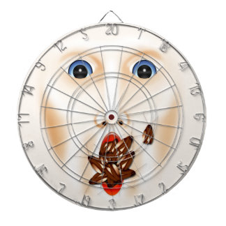Creepy Face Roaches Mouth Halloween Haunted House Dartboard