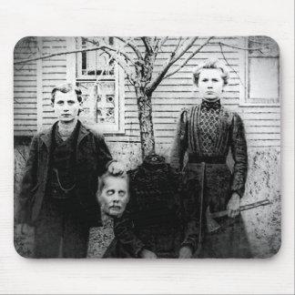 Creepy Family Portrait, Headless Mouse Pad