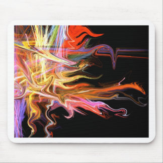 creepy fire icicle abstract cosmic illustration ar mouse pad