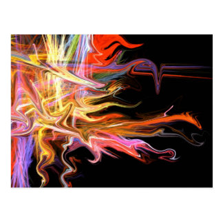 creepy fire icicle abstract cosmic illustration ar postcard