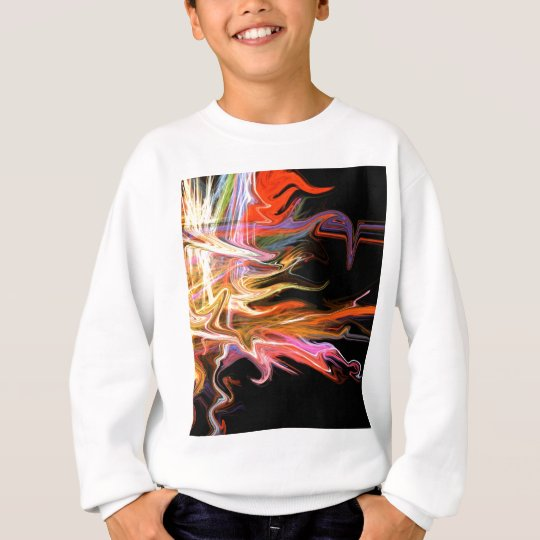 creepy fire icicle abstract cosmic illustration ar sweatshirt