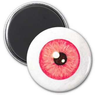 Creepy Fire Red Eyeball Magnet
