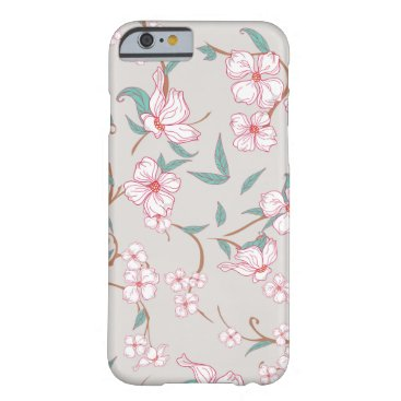 Creepy Flowers Pattern Barely There iPhone 6 Case