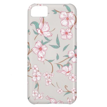 Creepy Flowers Pattern Case For iPhone 5C