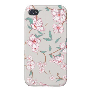 Creepy Flowers Pattern Case For iPhone 4