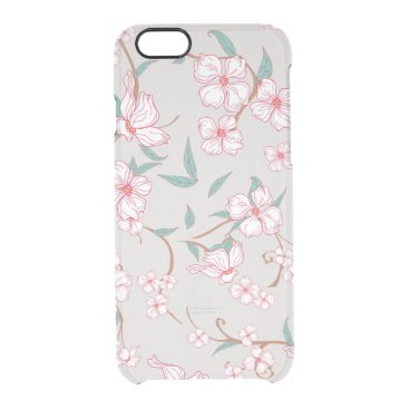 Creepy Flowers Pattern Clear iPhone 6/6S Case