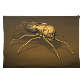 Creepy Fly Cloth Place Mat
