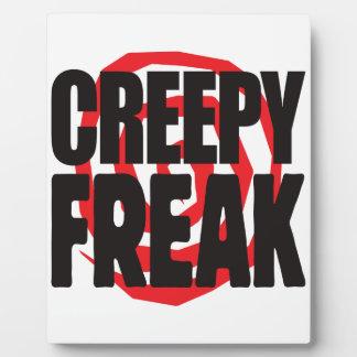 Creepy Freak Display Plaques