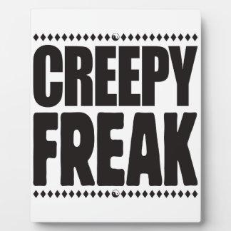 Creepy Freak Photo Plaques