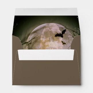 Creepy Full Moon with Birds Envelope