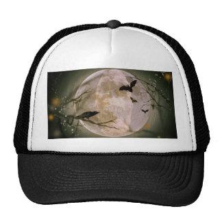 Creepy Full Moon with Birds Trucker Hat