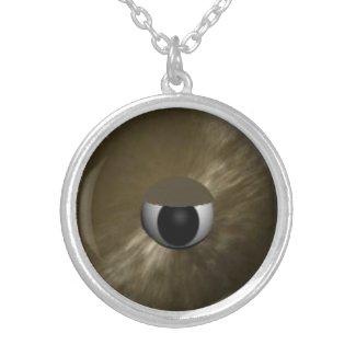 Creepy Furry Eyeball Necklace