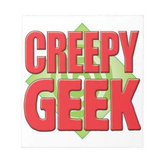Creepy Geek v2 Memo Pad