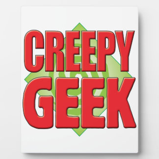 Creepy Geek v2 Display Plaque