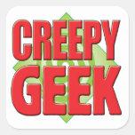 Creepy Geek v2 Sticker