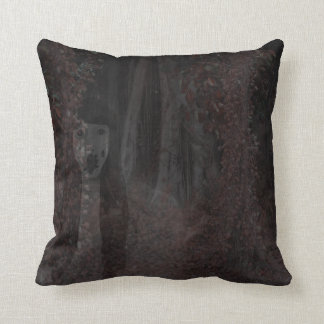Creepy Ghost In Woods Halloween Haunted House Pillows