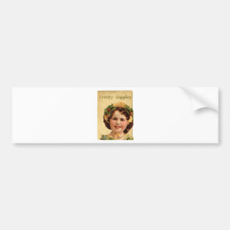 Creepy Giggles Sweet Victorian Girl Bumper Stickers