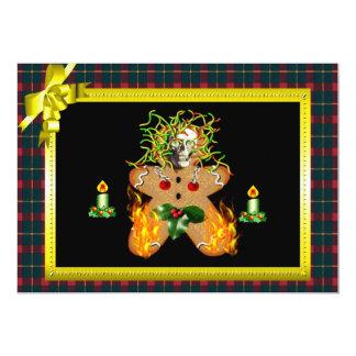 Creepy Gingerbread Man 5x7 Paper Invitation Card