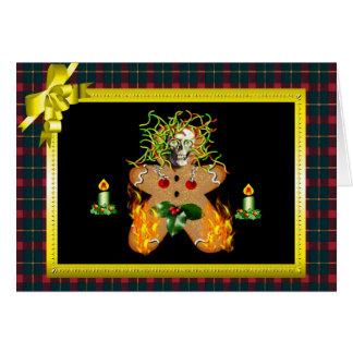 Creepy Gingerbread Man Card