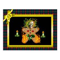 Creepy Gingerbread Man Postcard