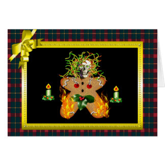 Creepy Gingerbread Man Stationery Note Card
