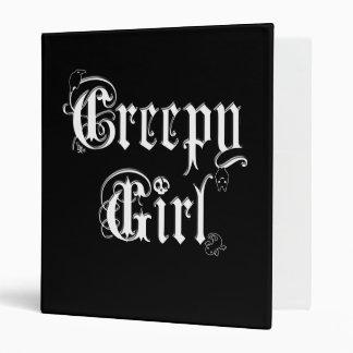 Creepy Girl Binder