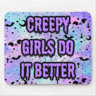Creepy Girls Mouse Pad