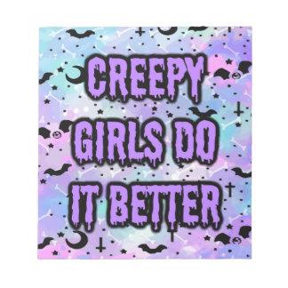 Creepy Girls Notepad