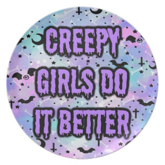 Creepy Girls Party Plate