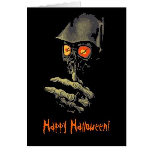 Creepy Glowing Eyes Halloween Card