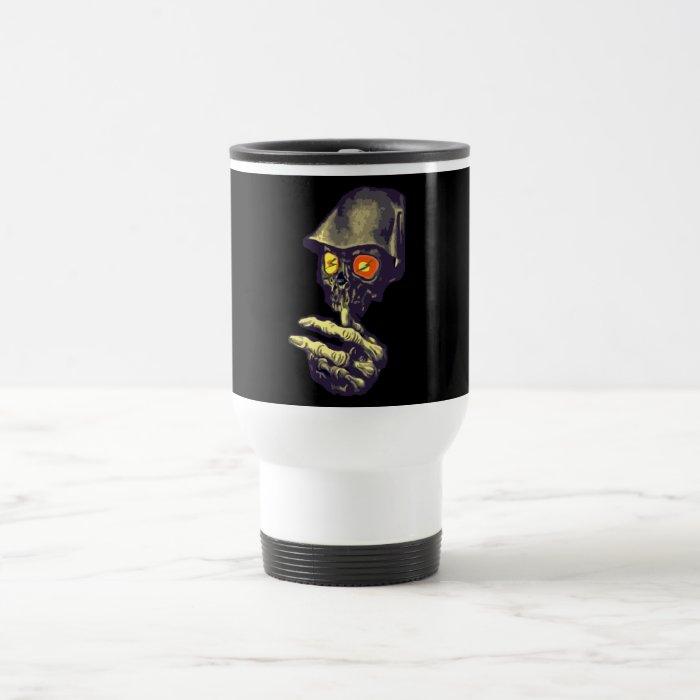 Creepy Glowing Eyes Monster Travel Mug