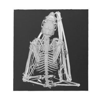 Creepy Gothic Bat Skeleton Notepad