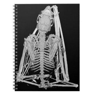 Creepy Gothic Bat Skeleton Spiral Notebook
