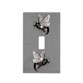 Creepy Gothic Bee Skull Wings Insect Light Switch Cover