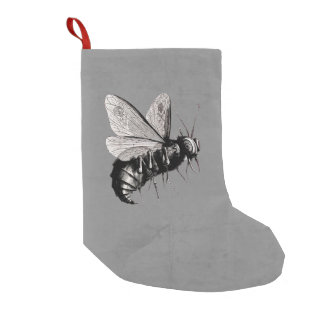 Creepy Gothic Bee Skull Wings Insect Small Christmas Stocking