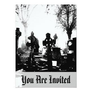 Creepy Gothic Graveyard Card