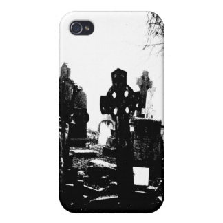 Creepy Gothic Graveyard Cover For iPhone 4