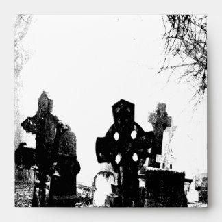 Creepy Gothic Graveyard Envelope