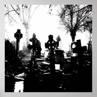 Creepy Gothic Graveyard Poster