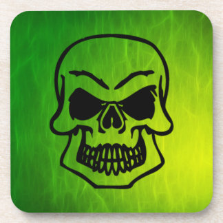 Creepy Gothic Skull Art Coasters