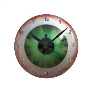 Creepy Green Eyeball Halloween Fun Clock