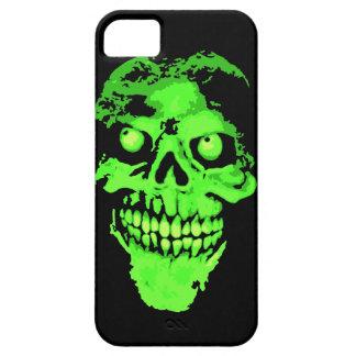 Creepy green neon style skull iPhone SE/5/5s case