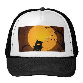 Creepy halloween background design mesh hat