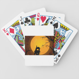 Creepy halloween background design deck of cards