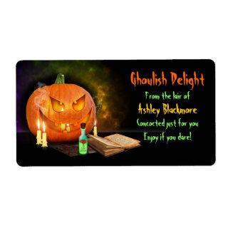 Creepy Halloween Baking Labels