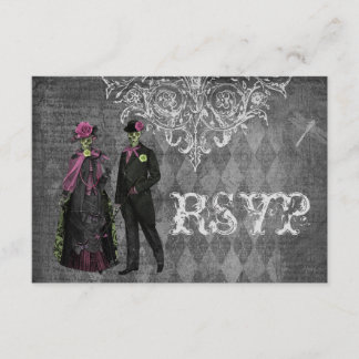 Creepy Halloween Bride & Groom RSVP Wedding