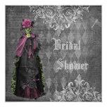 Creepy Halloween Bride Shabby Chic Bridal Shower Card