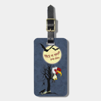 Creepy Halloween Buzzard Luggage Tag