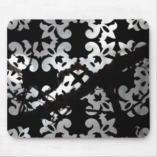 Creepy Halloween Damask Silhouette Branches & Mist Mouse Pad