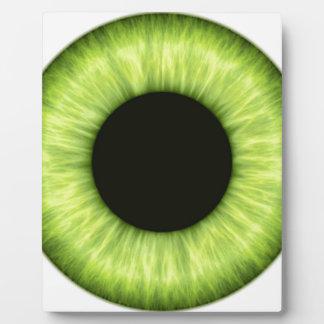 Creepy Halloween Green Eye Display Plaques